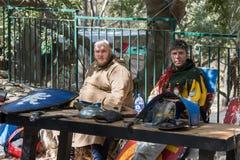 Το Artisans προσφέρει τα αγαθά τους στους ιππότες φεστιβάλ ` της Ιερουσαλήμ ` στην Ιερουσαλήμ, Ισραήλ Στοκ Εικόνες