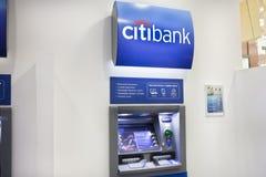 Το ATM είναι στο γραφείο της Citibank στη Μόσχα Στοκ φωτογραφίες με δικαίωμα ελεύθερης χρήσης
