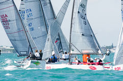 Το Bacio, τελειώνει top 10 σε Melges 20 παγκόσμια πρωταθλήματα Στοκ Εικόνες