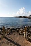το baja Lanzarote Μοντάνα λικνίζει τα &sig Στοκ εικόνες με δικαίωμα ελεύθερης χρήσης