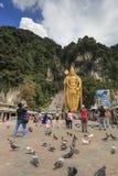 Το Batu ανασκάπτει την είσοδο και το Λόρδο Murugan Statue στη Κουάλα Λουμπούρ Μαλαισία Οι σπηλιές Batu βρίσκονται ακριβώς βόρεια  Στοκ Εικόνες