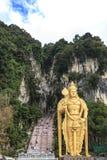Το Batu ανασκάπτει την είσοδο και το Λόρδο Murugan Statue στη Κουάλα Λουμπούρ Μαλαισία Οι σπηλιές Batu βρίσκονται ακριβώς βόρεια  Στοκ Εικόνα