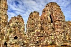 Το Bayon, ένας Khmer ναός σε Angkor στην Καμπότζη, Νοτιοανατολική Ασία Στοκ Εικόνα