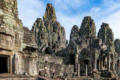 Το Bayon διακόσμησε πλουσιοπάροχα το Khmer ναό σε Angkor Thom στην Καμπότζη Στοκ φωτογραφία με δικαίωμα ελεύθερης χρήσης