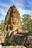 Το Bayon διακόσμησε πλουσιοπάροχα το Khmer ναό σε Angkor Thom στην Καμπότζη Στοκ Φωτογραφίες