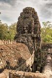 Το Bayon διακόσμησε πλουσιοπάροχα το Khmer ναό σε Angkor Thom στην Καμπότζη Στοκ εικόνες με δικαίωμα ελεύθερης χρήσης