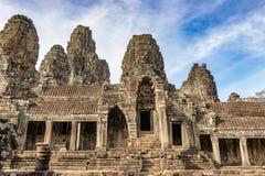 Το Bayon διακόσμησε πλουσιοπάροχα το Khmer ναό σε Angkor Thom στην Καμπότζη Στοκ Φωτογραφία