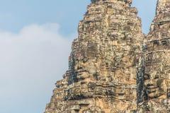 Το Bayon Castle ή ο Khmer ναός Prasat Bayon σε Angkor στο siem συγκεντρώνει Στοκ Εικόνες
