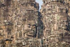 Το Bayon Castle ή ο Khmer ναός Prasat Bayon σε Angkor στο siem συγκεντρώνει Στοκ εικόνες με δικαίωμα ελεύθερης χρήσης