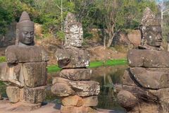 Το Bayon Castle ή ο Khmer ναός Prasat Bayon σε Angkor στο siem συγκεντρώνει Στοκ φωτογραφίες με δικαίωμα ελεύθερης χρήσης