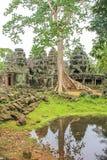 Το Bayon Castle στο ναό Siem Angkor Wat Angkor Thom συγκεντρώνει Στοκ εικόνα με δικαίωμα ελεύθερης χρήσης