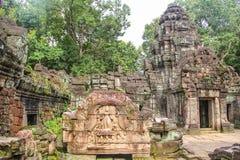 Το Bayon Castle στο ναό Siem Angkor Wat Angkor Thom συγκεντρώνει Στοκ Φωτογραφία