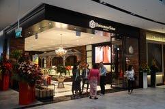 Το Bengawan τσιμπά σόλο το κατάστημα αναμνηστικών στον αερολιμένα Changi κοσμημάτων, Σιγκαπούρη στοκ εικόνα