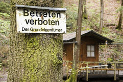 Το Betreten Στοκ φωτογραφία με δικαίωμα ελεύθερης χρήσης