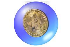 Το Bitcoin και ένα σαπούνι βράζουν έννοια Στοκ Φωτογραφίες
