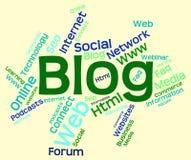 Το Blog Word δείχνει τους ιστοχώρους Διαδίκτυο και Blogging Στοκ εικόνες με δικαίωμα ελεύθερης χρήσης