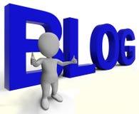 Το Blog Word παρουσιάζει τον ιστοχώρο και Blogging Blogger Στοκ φωτογραφία με δικαίωμα ελεύθερης χρήσης