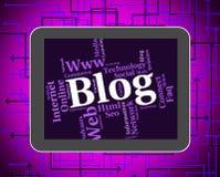 Το Blog Word παρουσιάζει τους ιστοχώρους και λέξεις Weblog Στοκ εικόνες με δικαίωμα ελεύθερης χρήσης