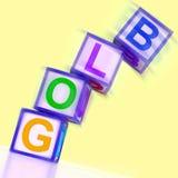 Το Blog Word παρουσιάζει Blogger Διαδίκτυο και θέση Στοκ Φωτογραφίες