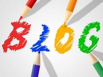 Το Blog Word παρουσιάζει World Wide Web και on-line Στοκ φωτογραφίες με δικαίωμα ελεύθερης χρήσης