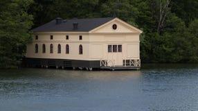 Το Boathouse του παλατιού Drottningholm στοκ εικόνα