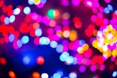 Το Bokeh ή το υπόβαθρο φω'των Χριστουγέννων Στοκ φωτογραφία με δικαίωμα ελεύθερης χρήσης