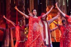 Το Bollywood φθάνει στη Βαρκελώνη με το μουσικό στοκ εικόνα με δικαίωμα ελεύθερης χρήσης