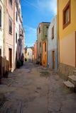 Ζωηρόχρωμη πλευρά Sa κτηρίων, Bosa, Σαρδηνία, Ιταλία Στοκ φωτογραφία με δικαίωμα ελεύθερης χρήσης