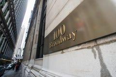 Το broadway σημάδι οδών στη Νέα Υόρκη στοκ φωτογραφία με δικαίωμα ελεύθερης χρήσης