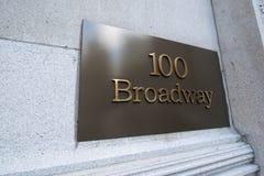 Το broadway σημάδι οδών στη Νέα Υόρκη στοκ εικόνα