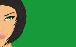 το brunette που ατονεί κοιτάζε&iot Στοκ φωτογραφία με δικαίωμα ελεύθερης χρήσης