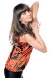 το brunette φαίνεται μαγνητικές ν&e στοκ εικόνα με δικαίωμα ελεύθερης χρήσης