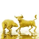 Το Bull και αντέχει Στοκ Φωτογραφίες