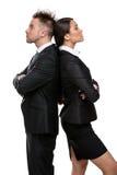Το businesspeople δύο στέκεται πλάτη με πλάτη Στοκ Εικόνες