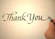 το callligraphy σας ευχαριστεί στοκ εικόνες με δικαίωμα ελεύθερης χρήσης