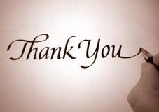 το callligraphy σας ευχαριστεί Στοκ Εικόνες