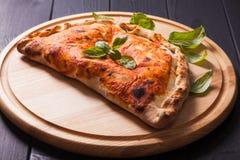 Το calzone πιτσών Στοκ Φωτογραφία
