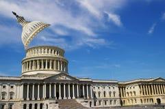 Το capitol της Ουάσιγκτον με το θόλο του ράγισε ανοικτό Στοκ Εικόνα