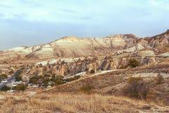 το cappadocia χαρακτήρισε ιστορικό τοπίο κληρονομιάς νεράιδων καπνοδόχων το καλλιεργητικό εξαιρετικό που η φυσική συγκεκριμένη πε Στοκ Φωτογραφίες