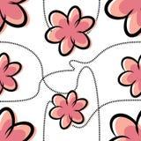Το Cartoony ανθίζει την άνευ ραφής σύσταση Στοκ Εικόνα