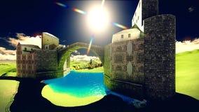 Το Castle δένει Στοκ Εικόνα