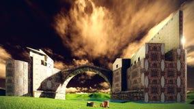 Το Castle δένει Στοκ φωτογραφία με δικαίωμα ελεύθερης χρήσης