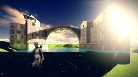 Το Castle δένει Στοκ εικόνες με δικαίωμα ελεύθερης χρήσης