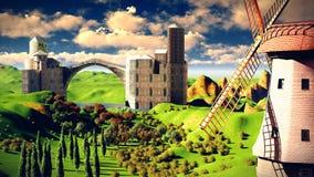 Το Castle δένει Στοκ Φωτογραφία