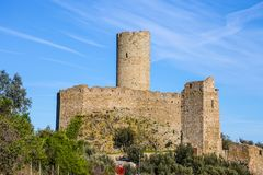 Το Castle Ursino τοποθετεί, Noli, Savona, Ιταλία Στοκ φωτογραφίες με δικαίωμα ελεύθερης χρήσης