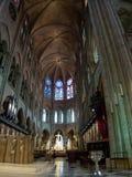 Το Cathedrale Παναγία των Παρισίων αναφέρει - καθολικός θόλος στοκ εικόνα
