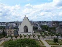 Το Château δ ` Angers είναι ένα κάστρο στην πόλη της Angers στην κοιλάδα της Loire, στη Γαλλία Στοκ Φωτογραφίες