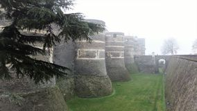 Το Château δ ` Angers είναι ένα κάστρο στην πόλη της Angers στην κοιλάδα της Loire, στη Γαλλία Στοκ Φωτογραφία