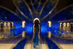 Το Cheikh το μεγάλο μουσουλμανικό τέμενος στο Αμπού Νταμπί Στοκ Εικόνα