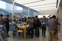 Το Chengdu ανοίγει το δεύτερο κατάστημα της Apple Στοκ φωτογραφία με δικαίωμα ελεύθερης χρήσης